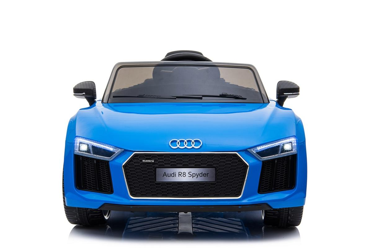 voiture lectrique pour enfants audi r8 spyder bleu 12v. Black Bedroom Furniture Sets. Home Design Ideas