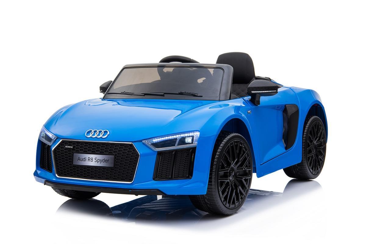 voiture lectrique pour enfants audi r8 spyder bleu 12v. Black Bedroom Furniture Sets. Home Design Ideas