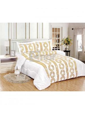 parure de lit motifs g om triques blanc dor. Black Bedroom Furniture Sets. Home Design Ideas