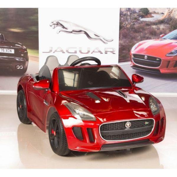 Métallisé F Type Électrique Pour Voiture 12v Jaguar Rouge Enfant SVpUzM