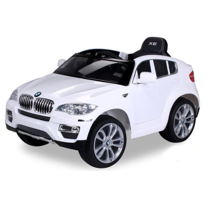 voiture lectrique 12v bmw x6 blanc. Black Bedroom Furniture Sets. Home Design Ideas