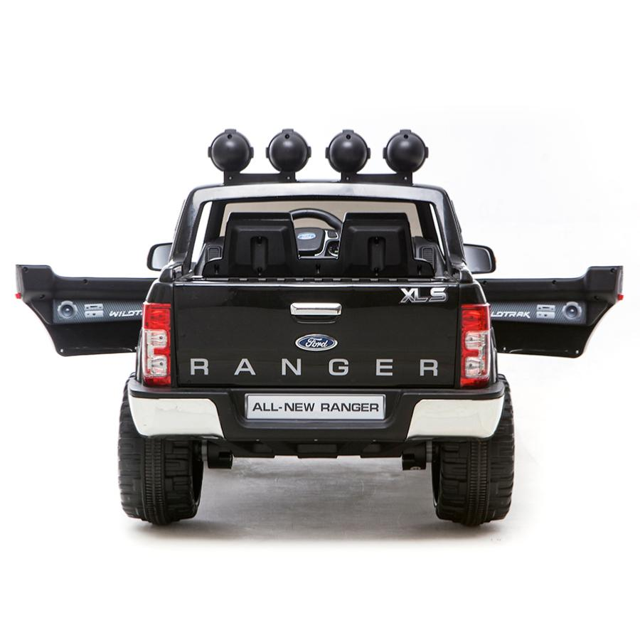 voiture lectrique pour enfants ford ranger noir 12v. Black Bedroom Furniture Sets. Home Design Ideas