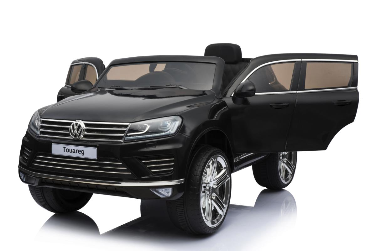 voiture lectrique 12v volkswagen touareg noire m tallis e pack luxe. Black Bedroom Furniture Sets. Home Design Ideas