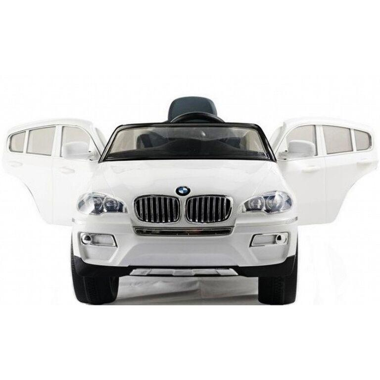 voiture lectrique pour enfants bmw x6 blanc 12v. Black Bedroom Furniture Sets. Home Design Ideas