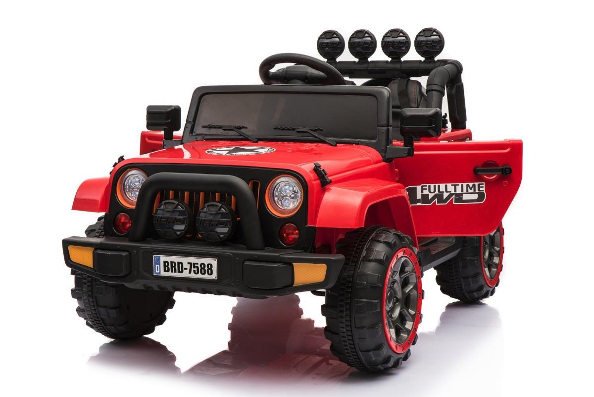 voiture lectrique pour enfants 4x4 safari rouge 12v. Black Bedroom Furniture Sets. Home Design Ideas